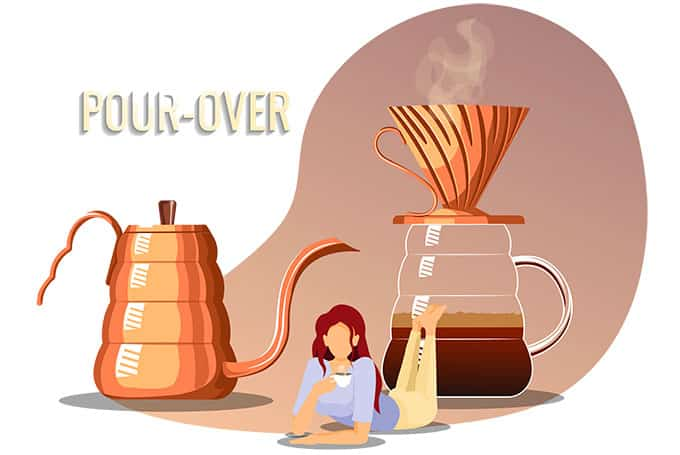 Pour-over and coffee lover concept